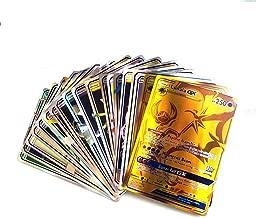 coreychen 120 pcs Poke Cards TCG Style Card, Mega Cards, Includes 35 Mega Cards 25 Ultra Beast GX