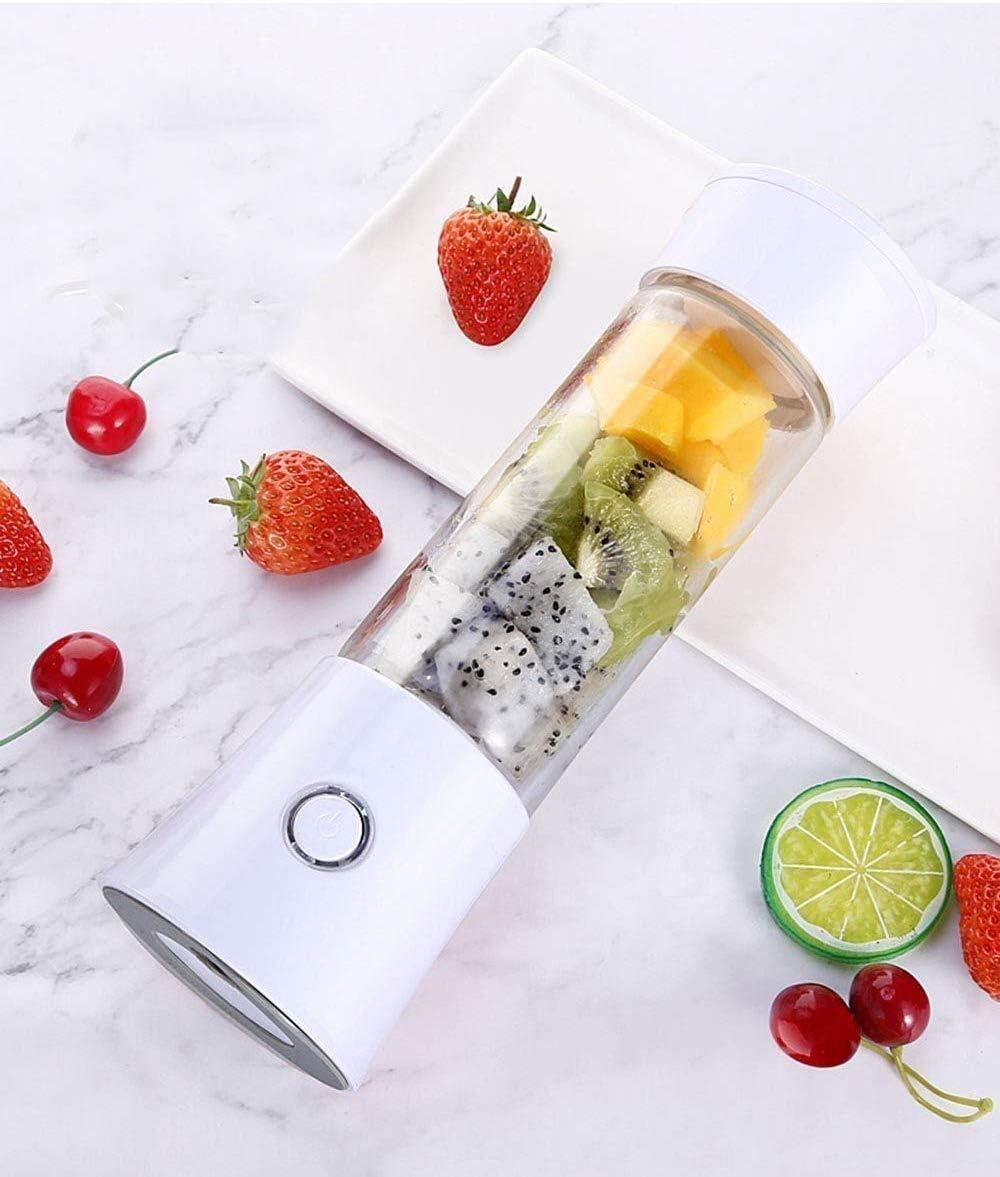HL-TD Coupe-Fruits électrique, Maison Mini jus Puissant, Rapide Portable, adapté for Le Bureau/Dortoirs/Voyage Multifonctionnel (Color : White) Pink