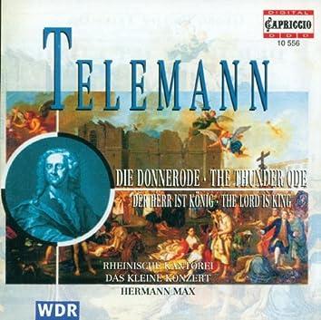 Telemann, G.P.: Herr Ist Konig (Der) / Donnerode
