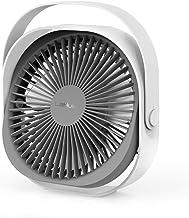 Lahuko Ventilateur USB, Ventilateur de Table, Ventilateur Rechargeable Ventilateur Silencieux Personnel Portable 360 ° Rég...