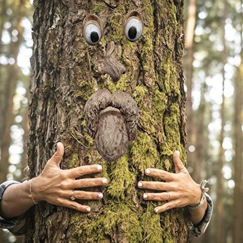 Albero faccia decorazioni da giardino, albero faccia Decor all'aperto, vecchio albero Hugger, divertimento vecchio albero scultura cortile arte decorazione del giardino