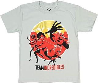 Disney Pixar The Incredibles Shirt Boys' Team Incredibles Graphic Licensed T-Shirt