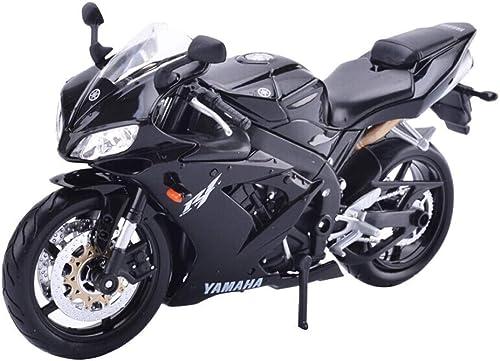KKD Scale-Modellfahrzeuge Alloy Car, hohes Simulations-Motorradmodell 1 12 Yamaha Motorrad-Simulationslokomotive YZF-R1 Alloy Car-Modell, Metall-Druckguss, Spielzeugfahrzeug Mini Fahrzeuge