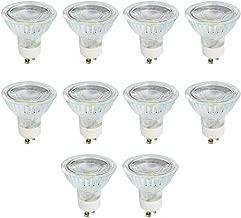 MR16 GU10 LED Bulb, Dimmable COB Light 5 Watt 400 Lumen, 120 Degree Beam Angle, 40W Halogen Bulbs Equivalent, Warm White 3000K, LED Light Bulbs for Spotlight, Recessed Lighting, Track Lighting, 10Pack