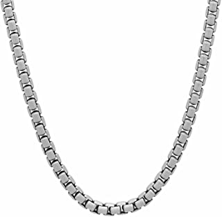 Solid 925 Sterling Silver 3.5mm Round Box Chain w/Brushed Finish + Microfiber Jewelry Polishing Cloth