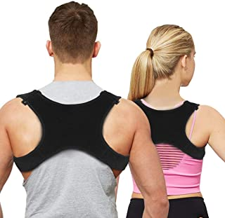 Posture Corrector for Men Women&Children Upper Back Brace Adjustable and Effective Clavicle Support Device for Thoracic Kyphosis and Shoulder Neck Pain Relief by Aaiffey
