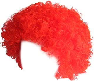 Economy Red Afro Wig ~ Halloween Costume Party Wig (STC13036)