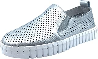 Kid's Coney Island Metallic Leather Flexible Lightweight Slip On Creeper Sneaker