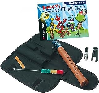 JUPITER Saxonett - Flauta saxonett con método en inglés, CD y bolsa de transporte