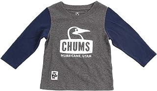 チャムス(チャムス) キッズ ブービーフェイス長袖Tシャツ CH21-1043 Crazy (グレー×ネイビー/M/Lady's)