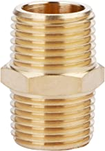 U.S. Solid Brass Pipe Fitting, Hex Nipple, 1/2