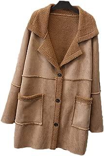 Women's Winter Jacket Jacket Fashion Long Section Large Lapel Cotton Coat (Color : Brown, Size : 4XL)