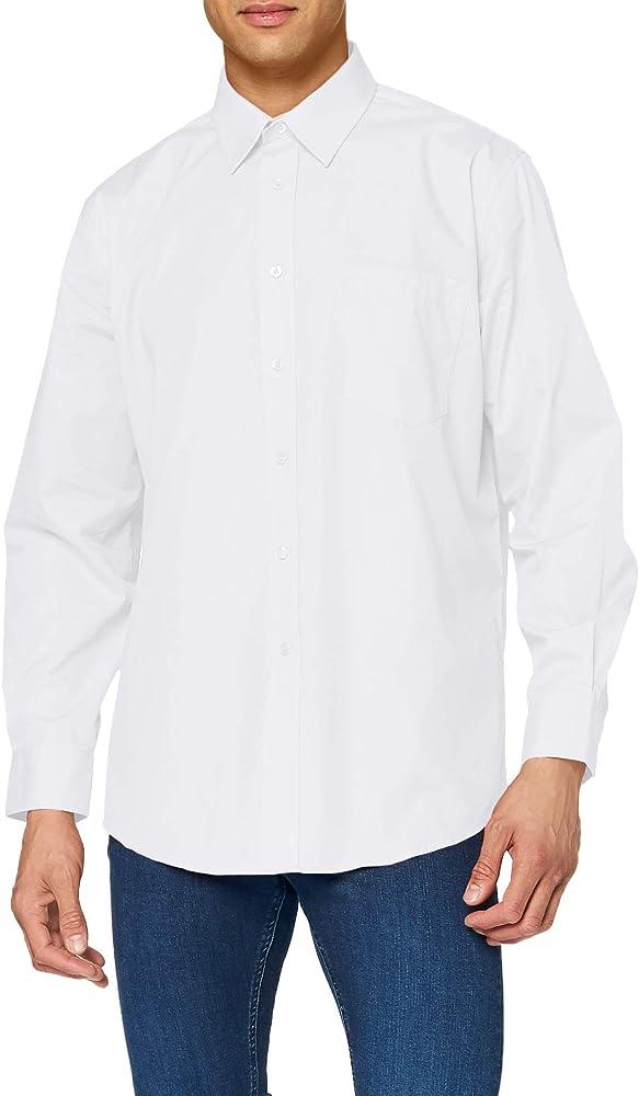 fruit of the loom camicia da uomo a maniche lunghe 55% cotone 45% poliestere 65-118-1