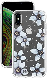 EMERGE FLORAL iPhone XS Max Flower Cell Phone Case - White Flower Print