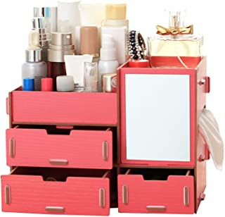 Organizador de cosméticos de madeira sólida estilo europeu Angel3292 DIY com suporte de armazenamento para decoração de ca...