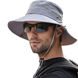 Manooby Chapeau de Soleil Homme Femme Casquette de Protection Anti-UV Casquette de P/êche de Chasse Chapeau Pour Randonn/ée Camping