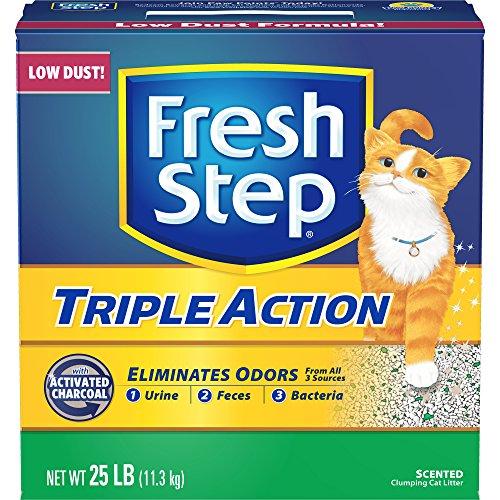 FRESH STEP CAT LITTER 261213 Fresh Step Triple Action Scooping Litter, 25 -Pound