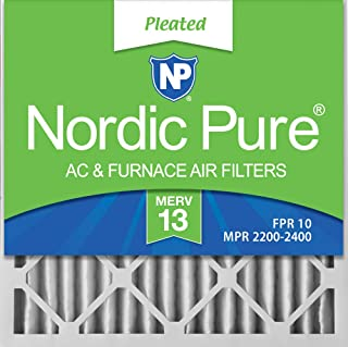 Nordic Pure 20x20x2 MERV 13 Pleated AC Furnace Air Filters 3 Pack, 3 PACK, 3 PACK