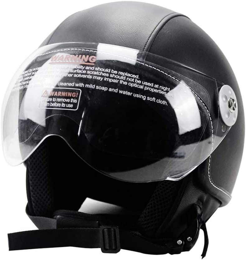 Woljay Leather Motorcycle 訳あり Vintage SALE開催中 Half Helmets Biker