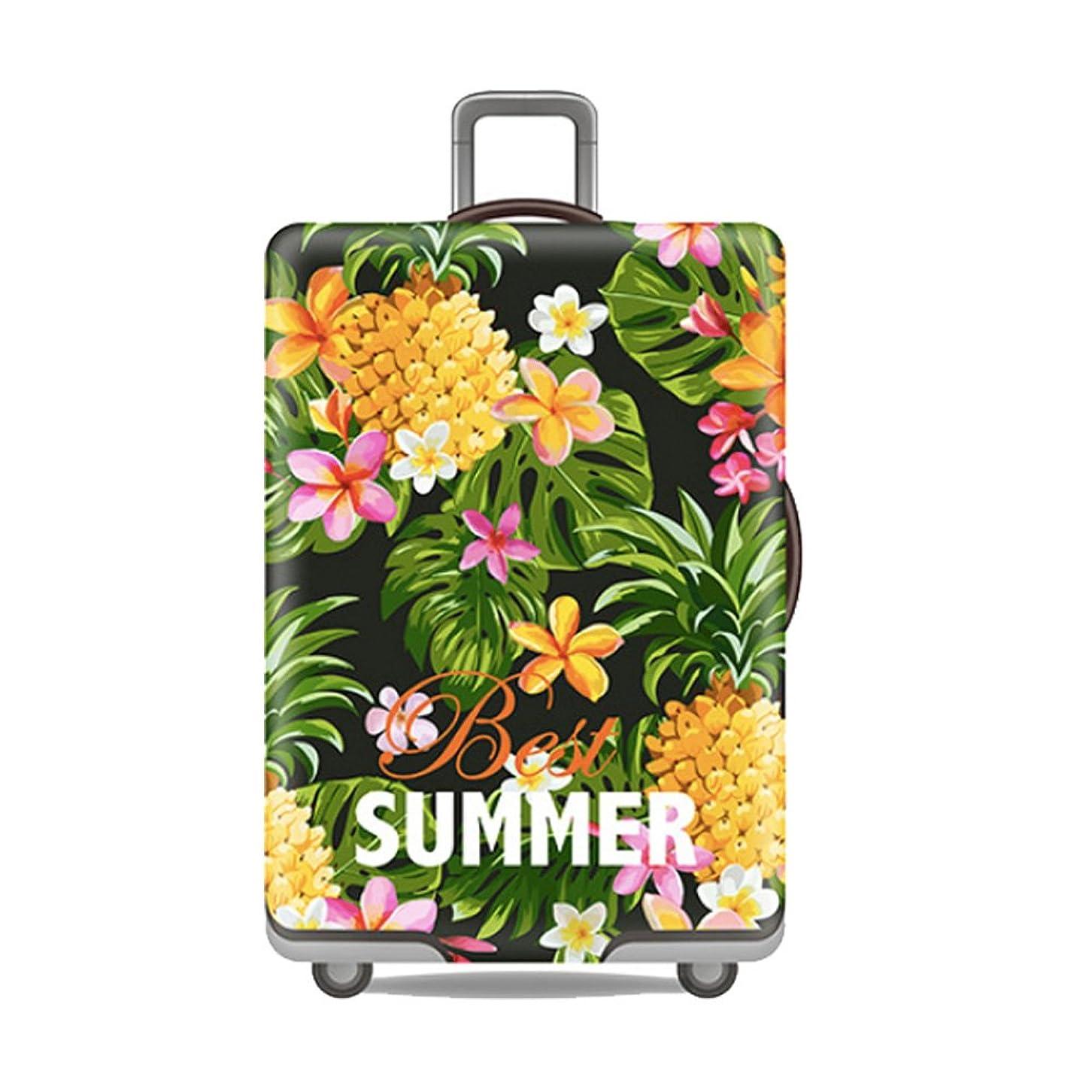 モナリザ苦情文句かもめFishtravel スーツケース カバー 伸縮 保護 洗える おしゃれ 旅行 海外 夏 キャリーバッグ カバー キズから保護 便利 ジッパー S M L XLサイズ