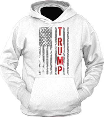 Donald Trump President Vintage USA Flag Hoodie