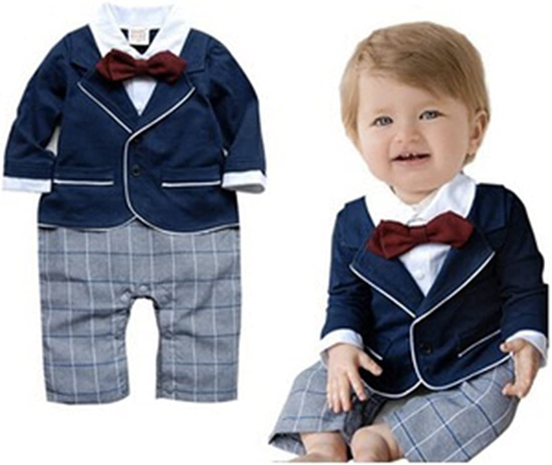 Neal LINK Baby Boy Popular products Smart Tuxedo Outfit Romper Al sold out. Suit Pagebo Formal