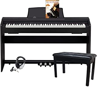 Casio PX770 BK Privia Digital Home Piano, Black with Piano Bench, Black, Adult All-In-One Course: Lesson-Theory-Technic: Level 1