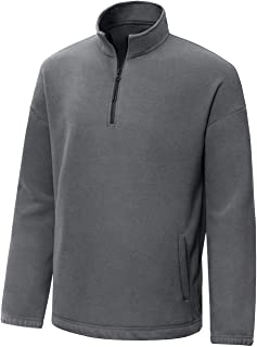Aoli Ray Men's 1/4 Zip Fleece Pullover Long Sleeve Sweatshirts Hoodie Sport Jackets Outerwear
