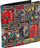 Marvel Comics Leather Character Bifold Wallet w/Gift Box, Multi-character, One Size