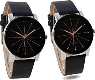 Nikola Valentine's Day Couple Analogue Black Color Dial Girls Watch - B51-G174 (Pack of 2)