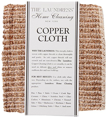 The Laundress New York Copper Cleaning Cloth, 6.1 inch (Pack of 1)