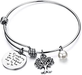 The Love Between A Mother and Daughter is Forever Expandable Family Tree Bracelet Gifts for Mom, Mother Daughter Gifts