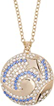 Grace Kelly Collection Swirling Sea Pendant Necklace with Velour Covered Steel Box.