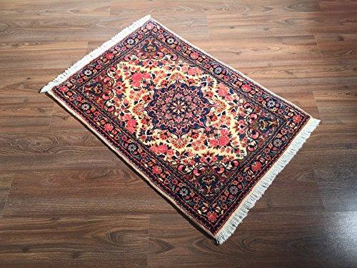 Ghorbani Einzelstück Handgeknüpfter Orientteppich Malayer Reine Schurwolle (101 x 70 cm)