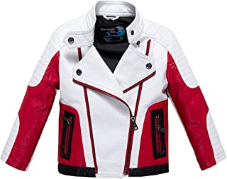 Boys Leather Motorcycle Pilot Jackets Toddler Coats