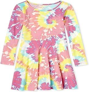 فستان للفتيات بأكمام طويلة برباط مصبوغ بثنيات من ذا كيدز بليس