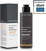 MOTHER MADE Active Charcoal Enzyme Powder Face Wash and Scrub, Daily Oil-free Deep Pore Cleanser to Prevent Acne and Breakouts with Gentle Exfoliation, for Men and Women, Preservative & Fragrance Free