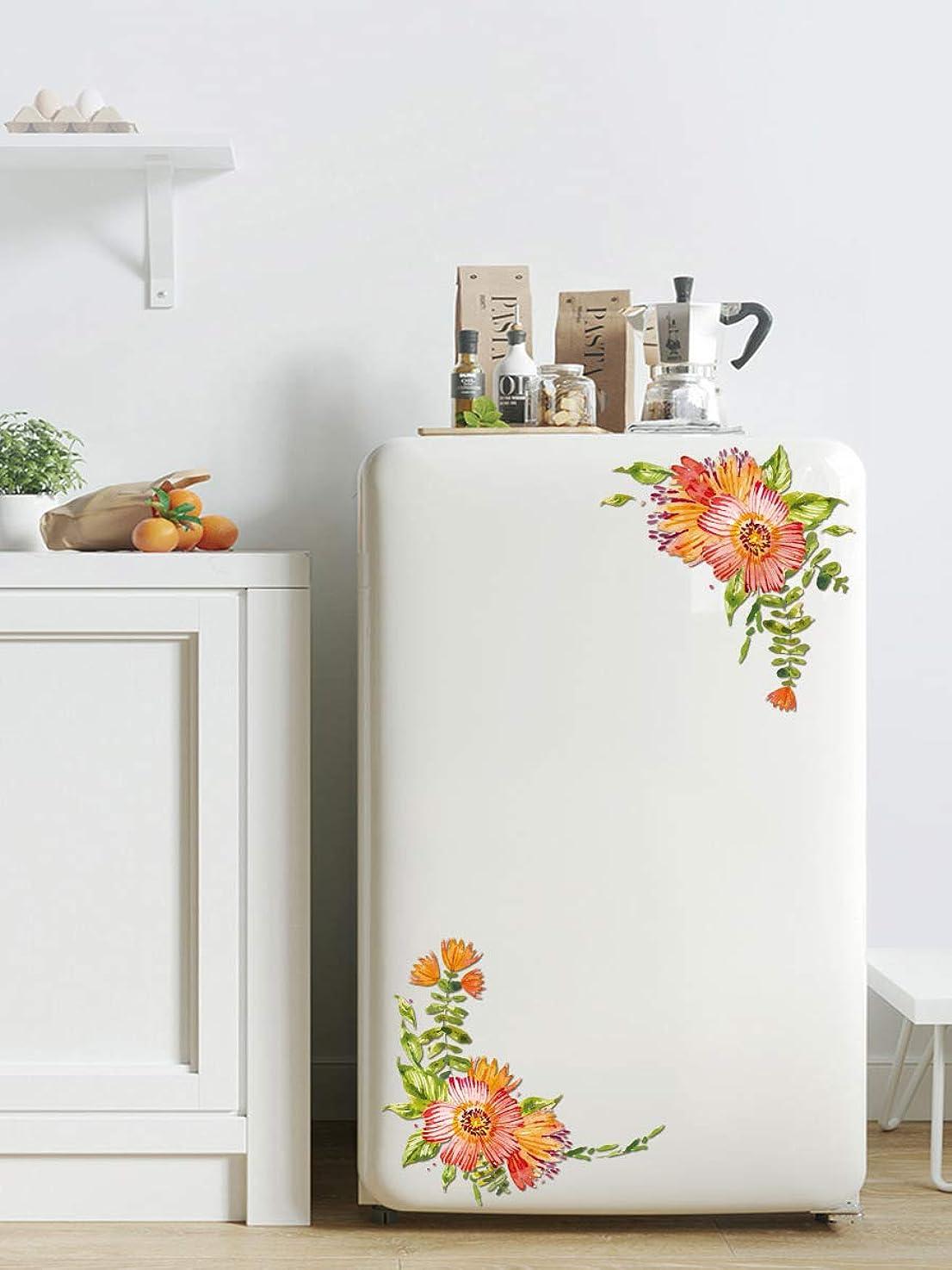 VANCORE Flower Stickers Refrigerator,Toilet Stickers,Toilet Decals, Refrigerator Stickers Holiday Christmas Decorations Fridge, Door, Window, Office Cabinets