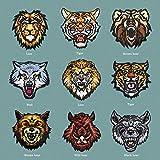 FFDGHB Parche Bordado De Tigre/Lobo/Leopardo/LeóN/Oso/Jabalí Parche De Planchado O Costura De Bricolaje Camiseta De Parche Chaqueta Jeans Mochila (Paquete De 10)