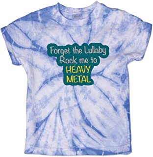 Forget The Lullaby Rock Me to Heavy Metal Crewneck Boys-Girls Cotton T-Shirt