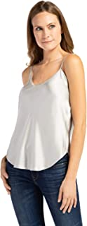 Women's 100% Pure Mulberry Silk Camisole with Adjustable Straps