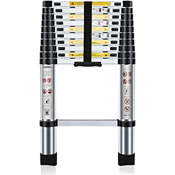 ParkerBrand Escalera telescópica de Aluminio (3,2 m), Extensible y Plegable, Multiusos: Amazon.es: Bricolaje y herramientas