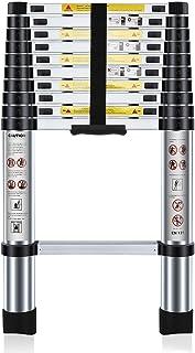 comprar comparacion Nestling® 3.2M Escalera Telescópica Multiusos de Aluminio Portátil. Extensión Plegable y Extensible EN131, Carga Máxima 15...