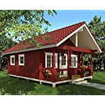 """Allwood timberline   483 sqf cabin kit 18 inside floor area: 354 sqf + loft 129 sqf wall thickness: 2-3/4"""" (70 mm) - dual t&g pattern   ridge height: 14'9"""" snow load capacity 46 lbs/sqf - for 70 lbs/sqf and 96 lbs/sqf values see asin:b07ty5msy8"""