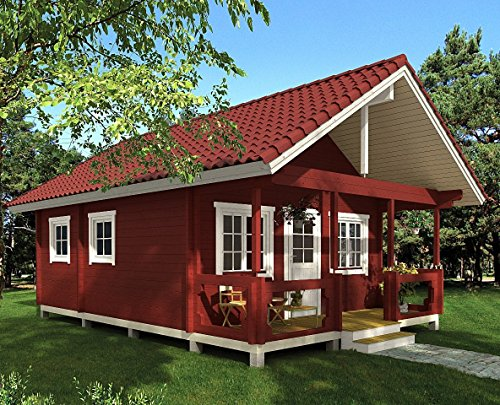 """Allwood timberline   483 sqf cabin kit 8 inside floor area: 354 sqf + loft 129 sqf wall thickness: 2-3/4"""" (70 mm) - dual t&g pattern   ridge height: 14'9"""" snow load capacity 46 lbs/sqf - for 70 lbs/sqf and 96 lbs/sqf values see asin:b07ty5msy8"""
