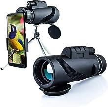 LEJIA monocular Telescope, 6 Piece Set 40X60 for Zoom Lens Adults Phone high Power starscope Definition monocular Smartpho...