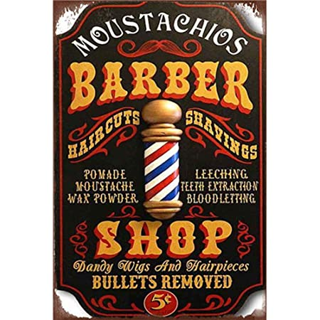 BARBERSHOP RULES  METAL TIN SIGN POSTER WALL PLAQUE VINTAGE RETRO STYLE
