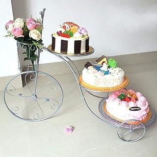 Europeo Metálico 100% 3 Pisos Cupcake Y Torre De Postre Creativo Plato De Frutos Secos