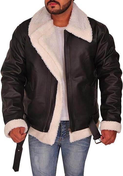 Giacca rocky 4  - giacca in pelle marrone sylvester stallone rocky balboa eu fashions B08Q81QJQV