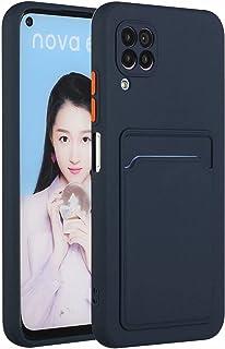 Molg Huawei P40 Lite 4G-Fodral [Skärmskydd] Ultratunna Mjuk TPU Silikon Stötsäker Stötfångare Omslag Med Kortplats Skyddan...